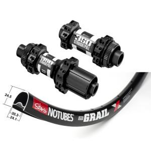 Stan's No Tubes ZTR Grail 700C / DT Swiss 350 CL Straightpull approx. 1650g wheelset on the lightest spokes