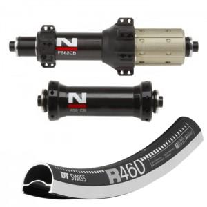 DT Swiss R460 / Novatec AS61CB FS62CB Straightpull wheelset 1470g