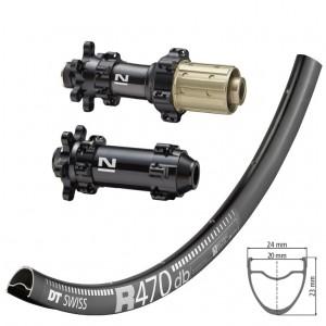 DT Swiss R470 Disc / Novatec D411SB D412SB Straightpull  wheelset approx. 1530g on the lightest spokes
