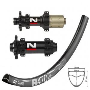 DT Swiss R470 Disc / Novatec D411CB D412CB Straightpull  wheelset approx. 1520g on the lightest spokes