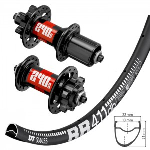 DT Swiss RR411 wheelset with DT Swiss IS hubs