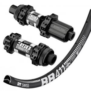 DT Swiss RR411 Asymmetric Disc / DT Swiss 350 Centerlock Straightpull wheelset 1505g