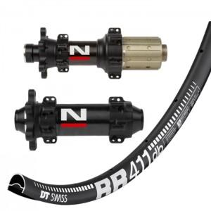 DT Swiss RR411 Asymmetric Disc / Novatec D411CB D412CB Straightpull wheelset approx. 1480g on the lightest spokes