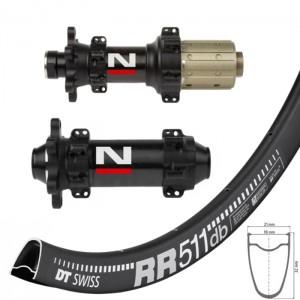 DT Swiss RR511 Disc / Novatec D411CB D412CB Straightpull wheelset 1580g