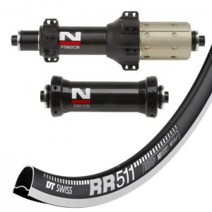 DT Swiss RR511 / Novatec AS61CB FS62CB Straightpull wheelset 1610g