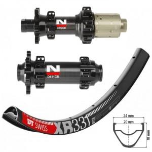 DT Swiss XR331 700c GRAVEL / CX / Novatec D411CB / D412CB IS Straightpull wheelset approx. 1410g on the lightest spokes