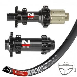 """DT Swiss XR361 29"""" / Novatec D411CB / D412CB Carbon Straightpull 1470g wheelset"""