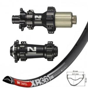 "DT Swiss XR361 29"" / Novatec XDS641SB-B15 DS462SB-B12 BOOST wheelset 1600g"