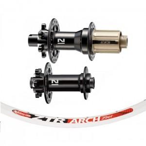 Stan's No Tubes ZTR Arch 29 white / Novatec 791/792 wheelset 1745g